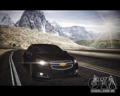 Chevrolet Malibu para GTA San Andreas vista direita