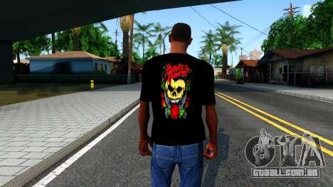 Bullet For My Valentine T-shirt para GTA San Andreas terceira tela