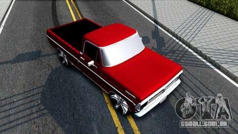 Ford F100 1975 para GTA San Andreas vista traseira