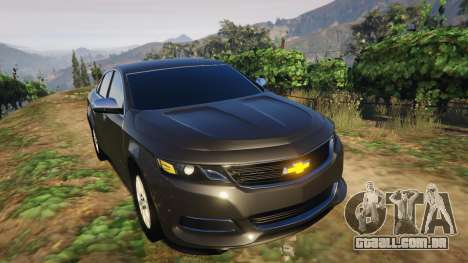 GTA 5 Chevrolet Impala 2015 traseira direita vista lateral