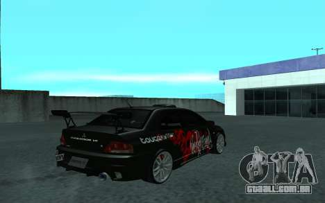 Mitsubishi Lancer Evolution VII para GTA San Andreas vista interior