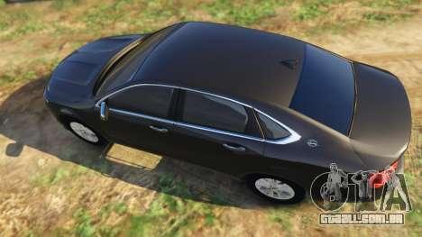 GTA 5 Chevrolet Impala 2015 voltar vista