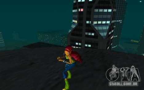 Aisha Rock Outfit from Winx Club Rockstars para GTA San Andreas segunda tela