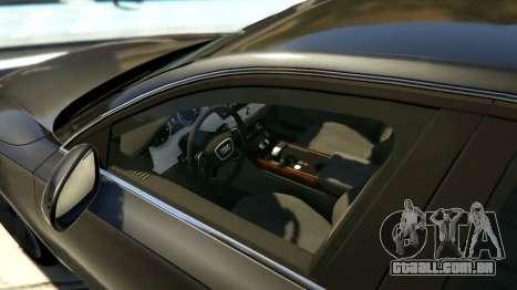 GTA 5 2010 Audi A8 FSI v4.0 vista lateral esquerda