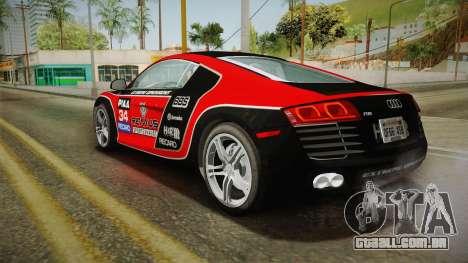 Audi R8 Coupe 4.2 FSI quattro US-Spec v1.0.0 v4 para as rodas de GTA San Andreas
