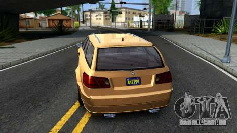 GTA V Benefactor Schafter Wagon para GTA San Andreas traseira esquerda vista