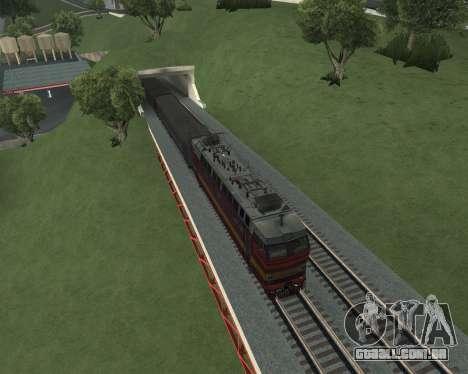 Locomotiva de passageiros CHS4t-521 para GTA San Andreas interior