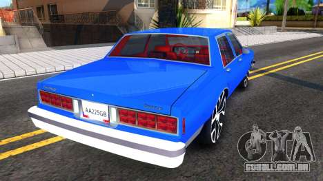 Chevrolet Caprice 1987 Tuning para GTA San Andreas vista direita