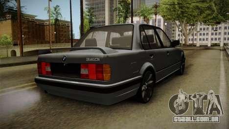 BMW M3 E30 Edit v1.0 para GTA San Andreas traseira esquerda vista
