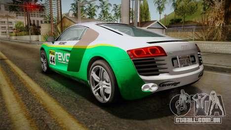 Audi R8 Coupe 4.2 FSI quattro EU-Spec 2008 Dirt para as rodas de GTA San Andreas