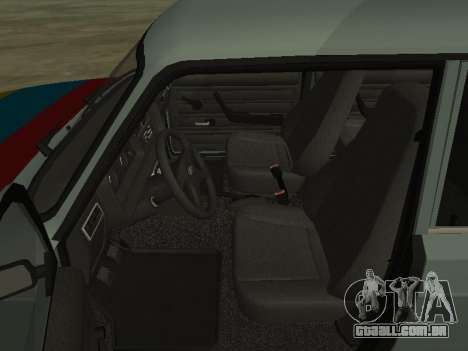2107 para GTA San Andreas vista inferior