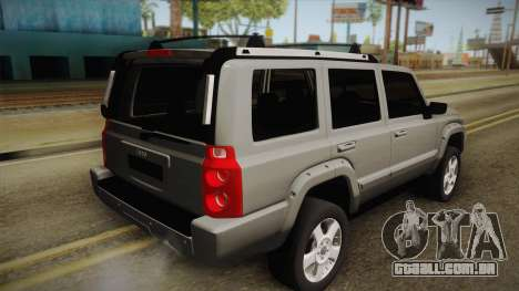 Jeep Commander 2010 para GTA San Andreas esquerda vista