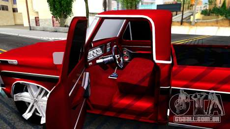 Ford F100 1975 para GTA San Andreas vista interior