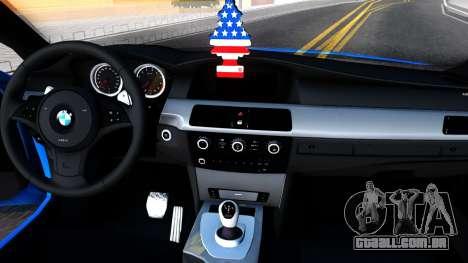 BMW E60 520D M Technique para GTA San Andreas vista interior