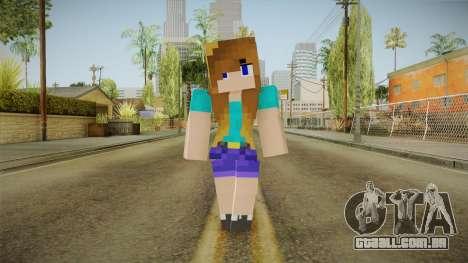 Minecraft - Stephanie para GTA San Andreas segunda tela