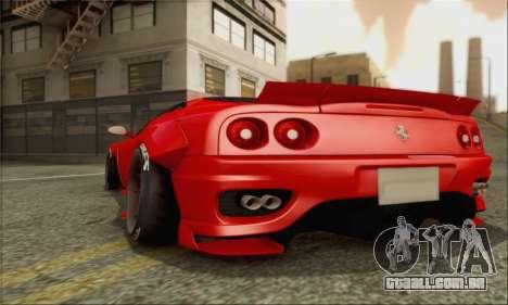 Ferrari 360 LB Work para GTA San Andreas