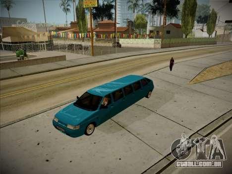 VAZ 2112 Odinnadtsatoye para GTA San Andreas vista traseira
