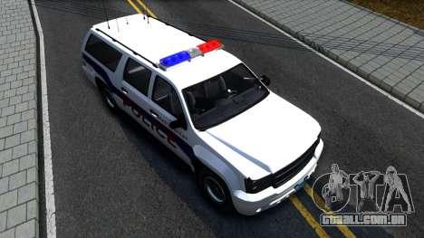 Declasse Granger Metropolitan Police 2012 para GTA San Andreas vista traseira