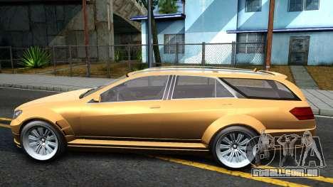 GTA V Benefactor Schafter Wagon para GTA San Andreas esquerda vista