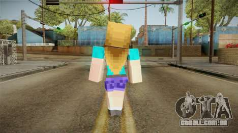 Minecraft - Stephanie para GTA San Andreas terceira tela