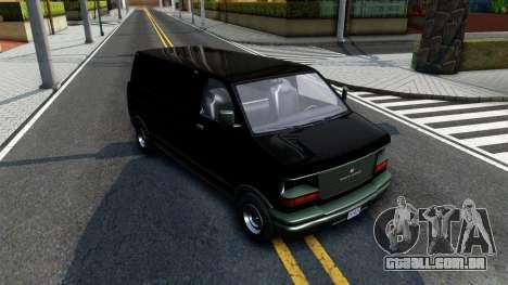 GTA V Declasse Burrito para GTA San Andreas vista traseira
