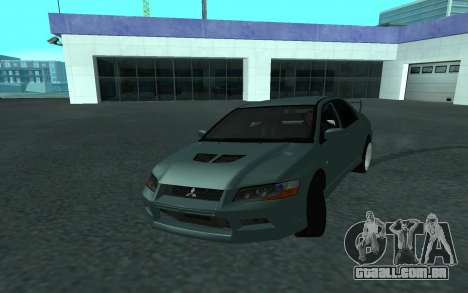 Mitsubishi Lancer Evolution VII para vista lateral GTA San Andreas