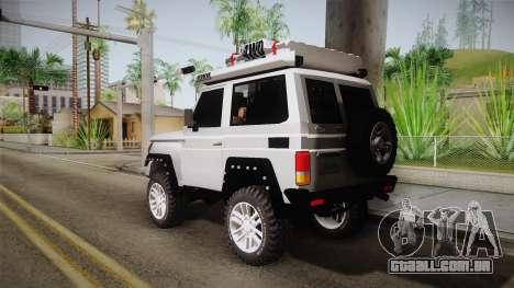 Toyota Land Cruiser Machito 2013 Sound Y para GTA San Andreas esquerda vista