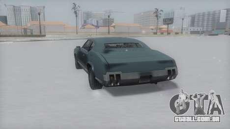 Sabre Winter IVF para GTA San Andreas traseira esquerda vista