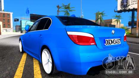 BMW E60 520D M Technique para GTA San Andreas vista direita