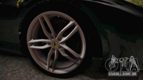 Ferrari 488 GTB para GTA San Andreas vista traseira