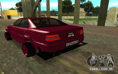 Toyota Chaser Sport para GTA San Andreas traseira esquerda vista