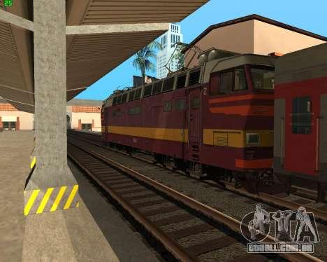 Locomotiva de passageiros CHS4t-521 para vista lateral GTA San Andreas