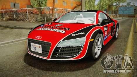 Audi R8 Coupe 4.2 FSI quattro US-Spec v1.0.0 v4 para o motor de GTA San Andreas