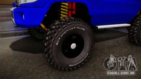 Toyota Macho 2015 Off Road para GTA San Andreas vista traseira