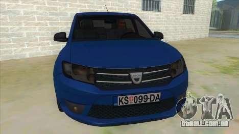 2016 Dacia Sandero para GTA San Andreas vista traseira