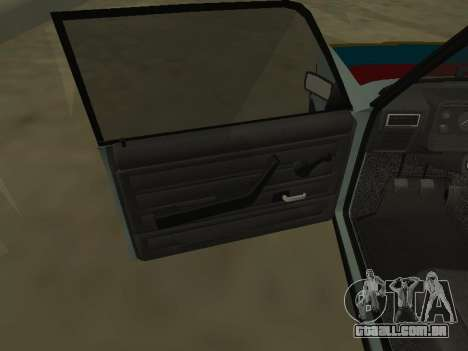 2107 para GTA San Andreas vista superior
