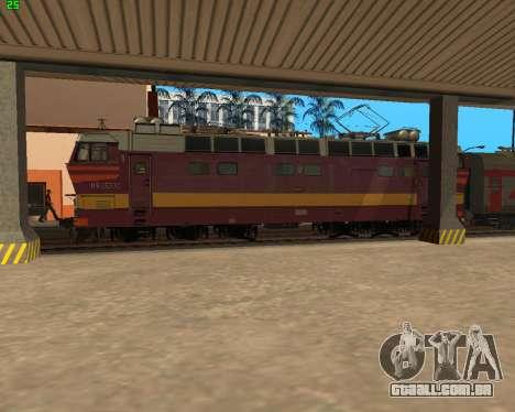 Locomotiva de passageiros CHS4t-521 para GTA San Andreas vista superior