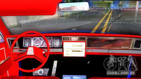 Chevrolet Caprice 1987 Tuning para GTA San Andreas vista interior