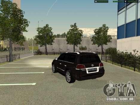 Lexus LX 570 2011 para GTA San Andreas esquerda vista