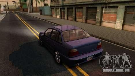 Daewoo Cielo 2001 para GTA San Andreas traseira esquerda vista