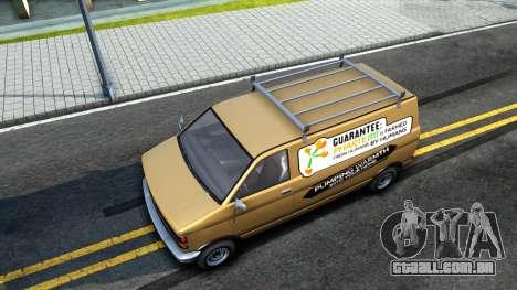 GTA V Declasse Burrito Commercial para GTA San Andreas vista traseira