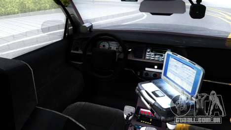 Ford Crown Victoria OHSP Unmarked 2010 para GTA San Andreas vista interior
