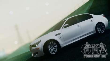 BMW M5 E60 para GTA San Andreas vista superior
