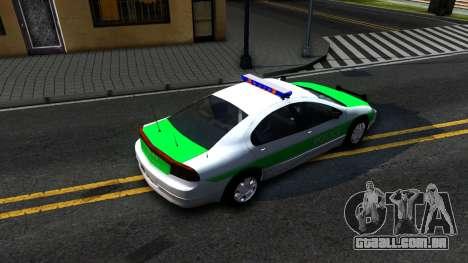 Dodge Intrepid German Police 2003 para GTA San Andreas vista traseira