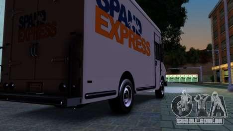 GTA IV Brute Boxville with SpandEx livery para GTA San Andreas vista traseira