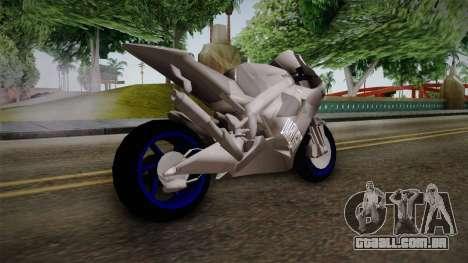 Dark Light Motorcycle para GTA San Andreas esquerda vista