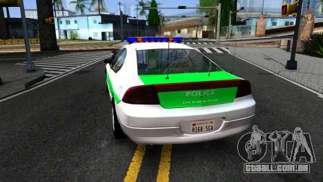 Dodge Intrepid German Police 2003 para GTA San Andreas traseira esquerda vista