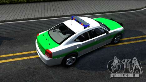 Dodge Charger German Police 2008 para GTA San Andreas vista traseira