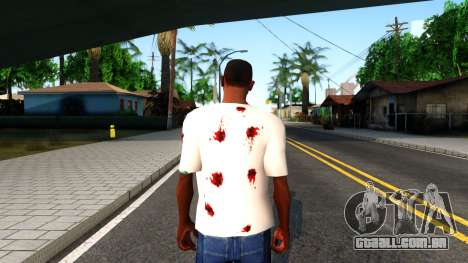 White I am Fine T-Shirt para GTA San Andreas terceira tela