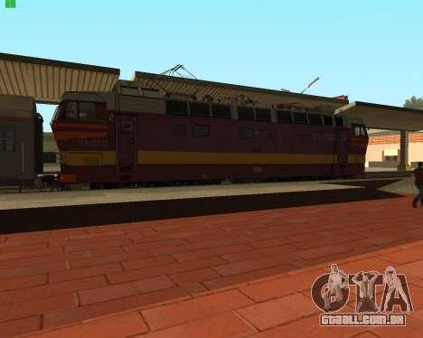 Locomotiva de passageiros CHS4t-521 para GTA San Andreas esquerda vista